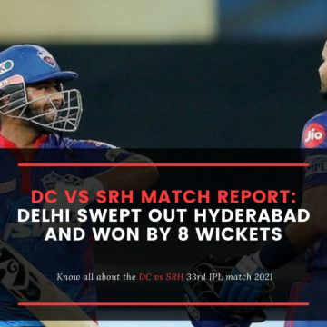 DC vs SRH Match Report - Delhi swept out Hyderabad and won by 8 wickets
