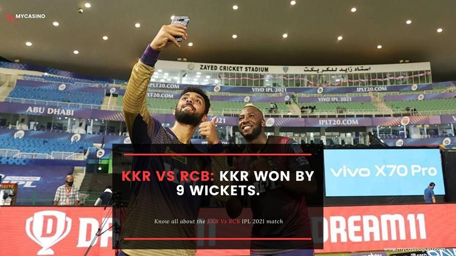 KKR vs RCB Match Report – KKR Won By 9 Wickets