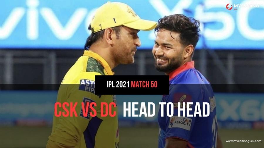 CSK vs DC Head to Head Match 50 IPL 2021 – Record & Stats