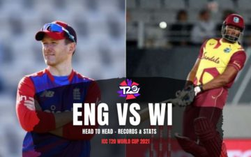 England vs West Indies T20 World Cup 2021 Head to Head - Records & Stats