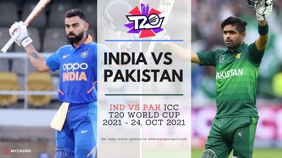 India vs Pakistan Head to Head  ICC T20 World Cup 2021