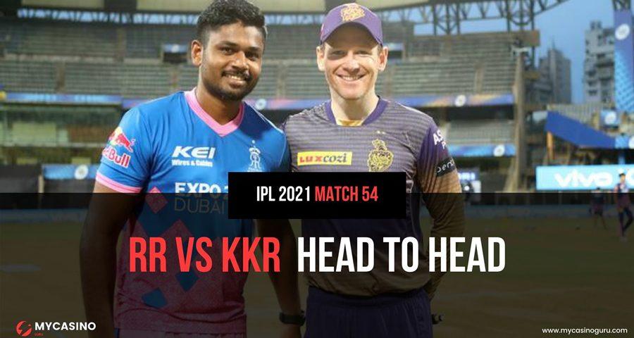 KKR vs RR Head to Head Match 54 IPL 2021 - Record & Stats
