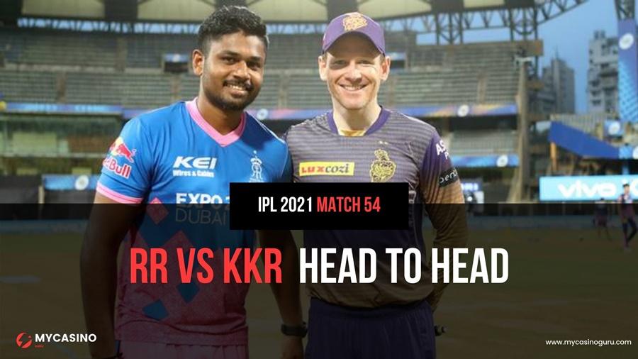 KKR vs RR Head to Head Match 54 IPL 2021 – Record & Stats