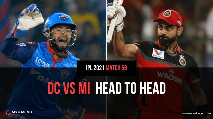 RCB vs DC Head to Head Match 56 IPL 2021 – Record & Stats